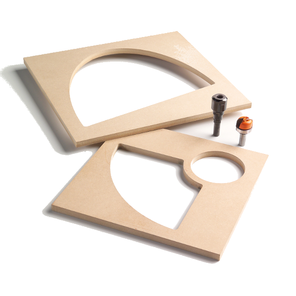 105-MDF TEMPLATE FOR BOWL & TRAY SYSTEM (12-7/8″ x 11-1/2″)