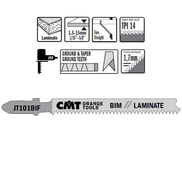 5 JIG SAW BLADES BIM 83×1.7x15TPI (LAMINATE/STRAIGHT/FINE)
