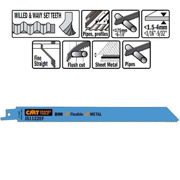 20 SABRE SAW BLADES FOR METALS (BIM) 225×1,4x18TPI