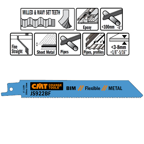 20 SABRE SAW BLADES FOR METALS (BIM) 150×1,8x14TPI